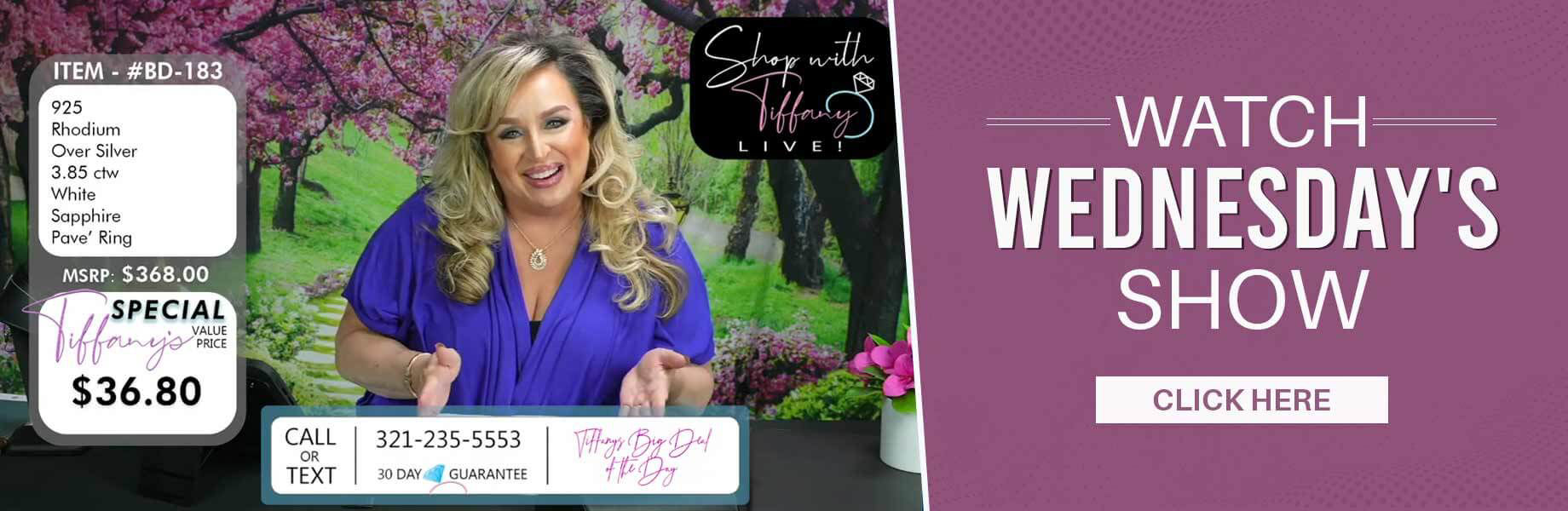 Shop With Tiffany Live at Avalon Park Jewelers